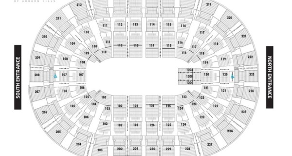 Palace of Auburn Hills Seating Chart, Detroit Pistons