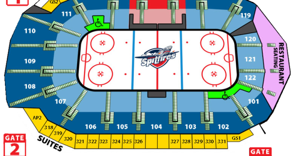 Windsor Spitfires Seating Chart
