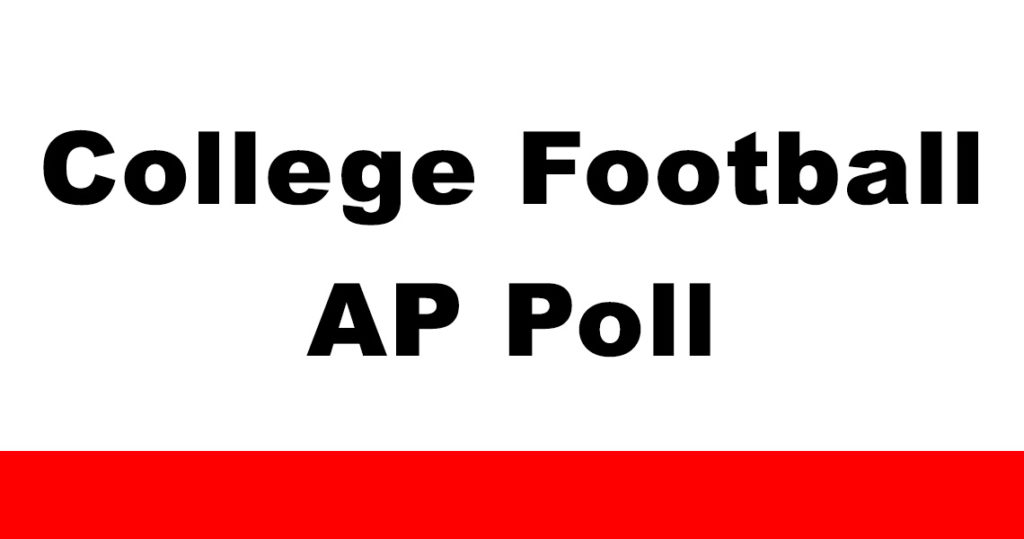 AP Poll Week 2, AP POLL WEEK 3, AP Poll, NCAA Football, AP POLL WEEK 4, week 5 2018, AP Poll Top 25 Week 6 2018, AP Poll Week 7 2018