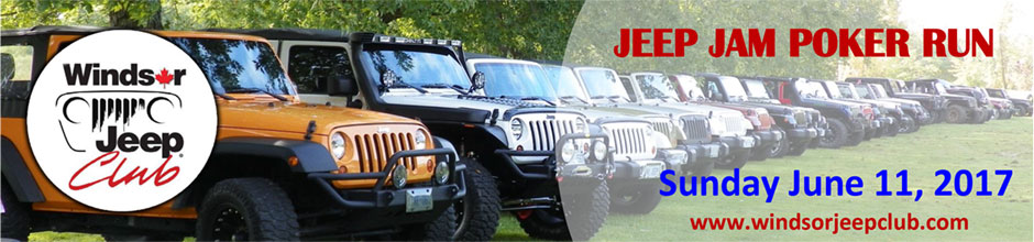 Windsor Jeep Club Jeep Jam Poker Run