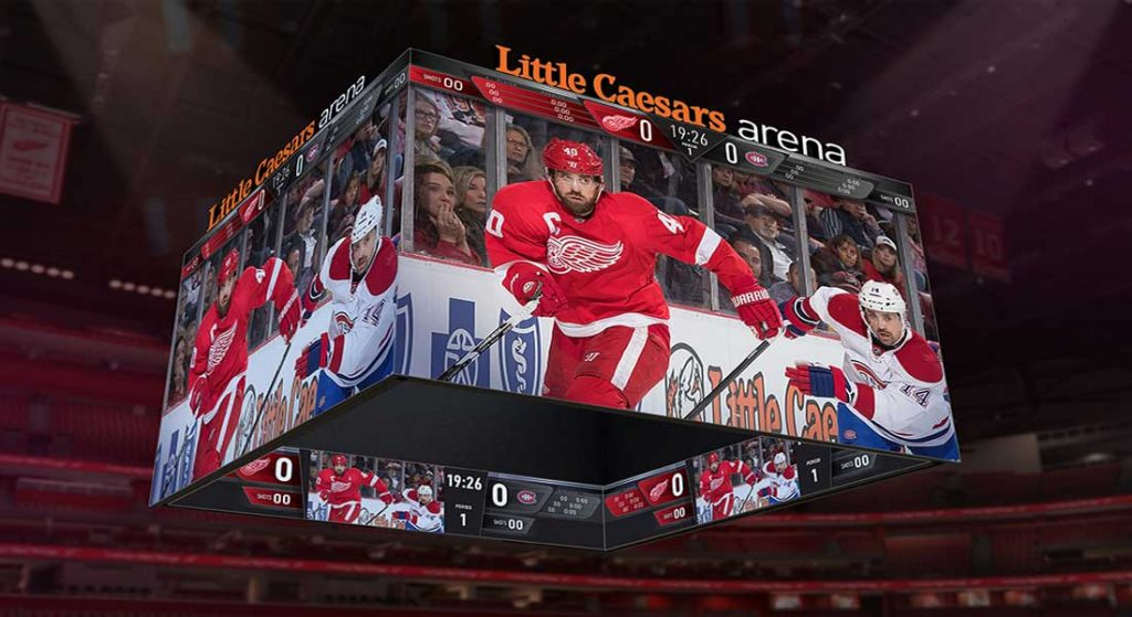 Little Caesars Arena Scoreboard World's Largest System