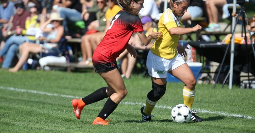Women Saints Soccer Upset Fanshawe