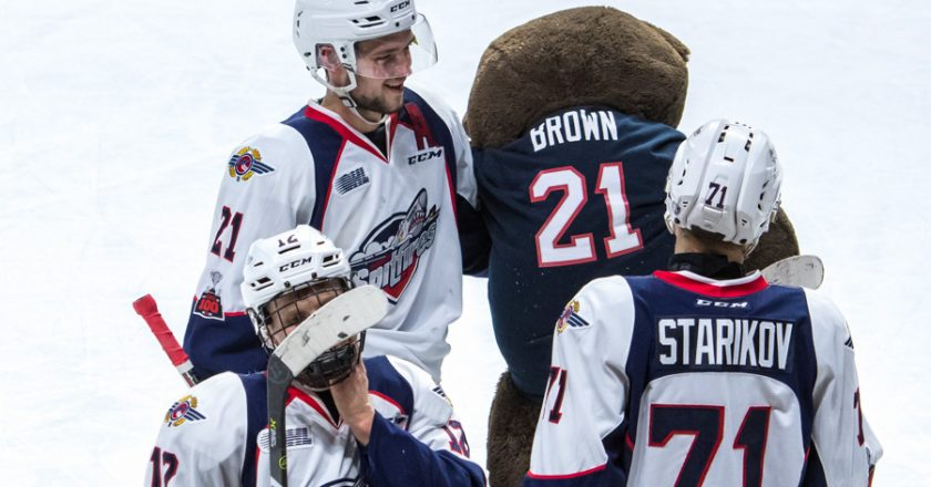 Windsor Spitfires Teddy Bear Toss PIX
