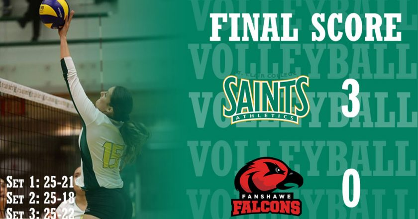 St. Clair Women's Volleyball Defeat Fanshawe