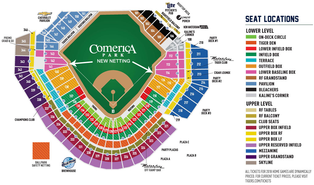 New netting installed at comerica park in play magazine