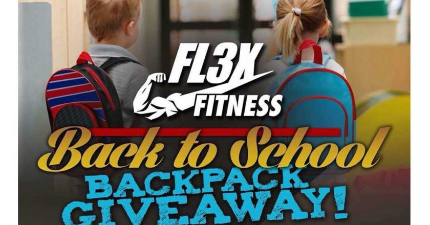 FL3X FITNESS BACK TO SCHOOL BACKPACK GIVEAWAY