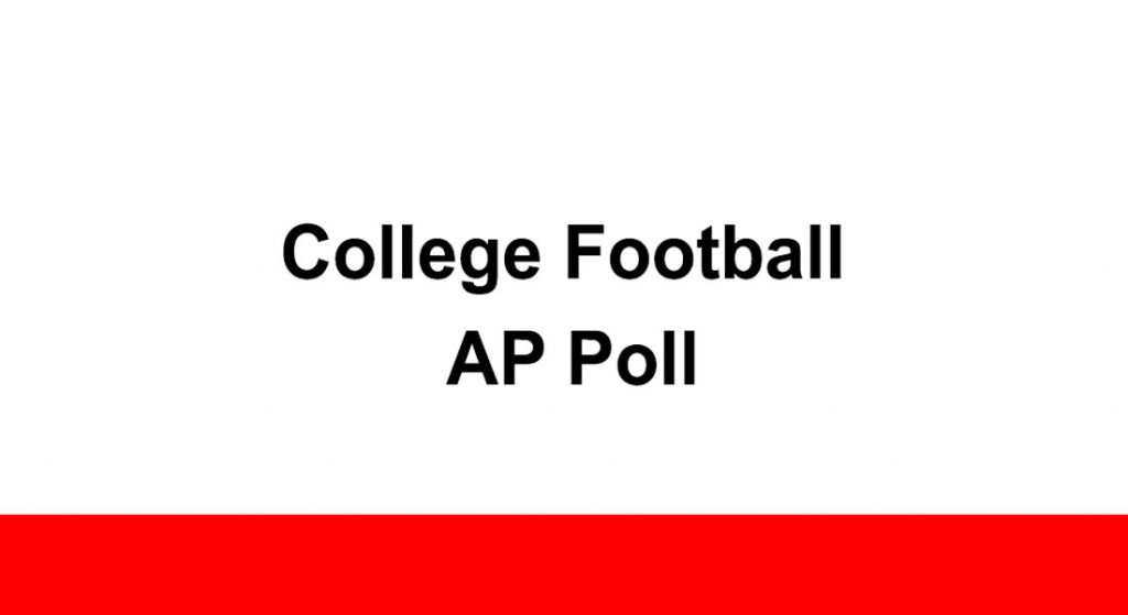 College Football AP Poll, AP Top 25 College Football Poll, College Football AP Top 25 Poll Week 12